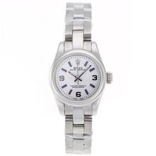 Replik Rolex Air-King Swiss ETA 2671 Uhrwerk mit White Dial S / S-Lady Size - Attraktive Rolex Air King für Sie 20006 Schauen
