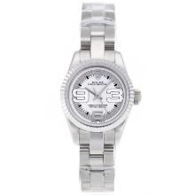 Replik Rolex Air-King Swiss ETA 2671 Uhrwerk mit White Dial S / S-Lady Size - Attraktive Rolex Air King für Sie 20002 Schauen