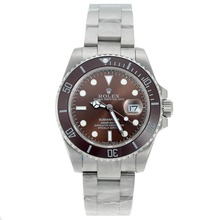 Replik Rolex Submariner Automatic Ceramic Lünette mit Brown Dial S / S - Attraktive Rolex Submariner Uhr für Sie 25060