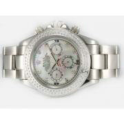 Repliki Rolex Daytona Chronograph Automatic Diamond Marking and Bezel with MOP Dial 13659