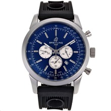 Replik Breitling Aeromarine Working Chronograph-Stick Marker mit Blue Dial-Rubber Strap 26359