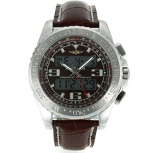 Replik Breitling Emergency Digitale Displayer mit Brown Dial-Brown Leather Strap - Attraktive Breitling Emergency Watch für Sie 26248