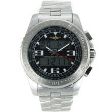 Replik Breitling Emergency Digitale Displayer mit schwarzem Zifferblatt S / S - Attraktive Breitling Emergency Watch für Sie 26242