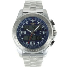 Replik Breitling Emergency Digitale Displayer mit blauem Zifferblatt S / S - Attraktive Breitling Emergency Watch für Sie 26241