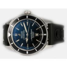 Replik Breitling Super Ocean Heritage Swiss ETA 2824 Bewegung Schwarzes Zifferblatt mit Rubber Strap-ULTIMATE Version - Attraktive Breitling Super Ocean Watch für Sie 26926