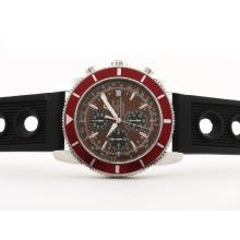 Replik Breitling Super Ocean Working Chrono SS Case mit Brown Dial-Rubber Strap - Attraktive Breitling Super Ocean Watch für Sie 26863