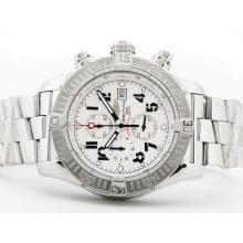 Repliki Breitling Skyland Avenger Working Chronograph with White Dial--Arabic Marking S/S – Attractive Breitling Skyland Avenger Watch for You 26835
