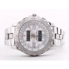 Replik Breitling Emergency mit White Dial-Digital Display S / S - Attraktive Breitling Emergency Watch für Sie 26829