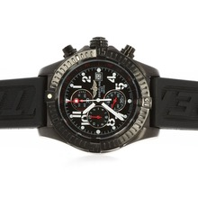 Replik Breitling Super Avenger Arbeiten Chronograph PVD Case Black Dial with Red Needles - Attraktive Breitling Super Avenger Uhr für Sie 26727