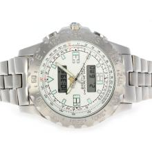 Replik Breitling Emergency Digital Player mit weißem Zifferblatt S / S - Attraktive Breitling Emergency Watch für Sie 26709