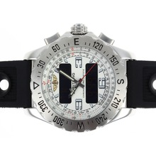 Replik Breitling Emergency Digital Player mit White Dial-Rubber Strap - Attraktive Breitling Emergency Watch für Sie 26687