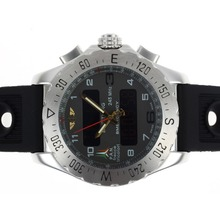 Replik Breitling Emergency Digital Player mit Gray Dial-Rubber Strap - Attraktive Breitling Emergency Watch für Sie 26686