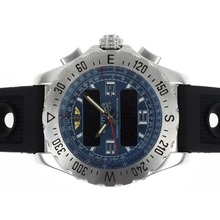 Replik Breitling Emergency Digital Player mit Blue Dial-Rubber Strap - Attraktive Breitling Emergency Watch für Sie 26685