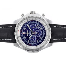 Replik Breitling for Bentley Motors Arbeiten Chronograph mit Blue Dial-Leather Strap - Attraktive Breitling Bentley für Sie 26646 Schauen