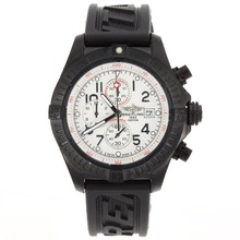 Replik Breitling Super Avenger Chronograph Arbeitsgruppe PVD Gehäuse mit White Dial-Rubber Strap - Attraktive Breitling Super Avenger Uhr für Sie 26594