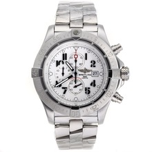 Repliki Breitling Skyland Avenger Working Chronograph with White Dial S/S--49mm Version – Attractive Breitling Skyland Avenger Watch for You 26584
