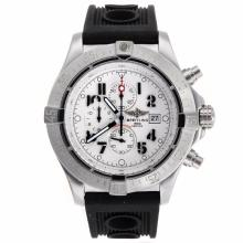 Repliki Breitling Skyland Avenger Working Chronograph with White Dial-Rubber Strap--49mm Version – Attractive Breitling Skyland Avenger Watch for You 26581
