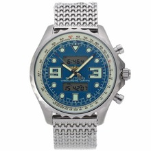 Replik Breitling Emergency Digitale Displayer mit blauem Zifferblatt S / S - Attraktive Breitling Emergency Watch für Sie 26543