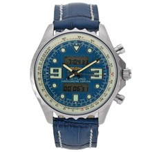 Replik Breitling Emergency Digitale Displayer mit Blue Dial-Leather Strap - Attraktive Breitling Emergency Watch für Sie 26537