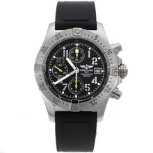 Repliki Breitling Skyland Avenger Chronograph Swiss Valjoux 7750 Movement with Black Dial-Rubber Strap – Attractive Breitling Skyland Avenger Watch for You 26505
