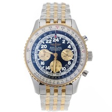 Repliki Breitling Cosmonaute Chronograph Swiss Valjoux 7750 Movement Two Tone with Black Dial – Attractive Breitling Cosmonaute Watch for You 26398