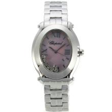 Replik Chopard Happy Sport mit Purple MOP Dial S / S-Lady Größe 32789
