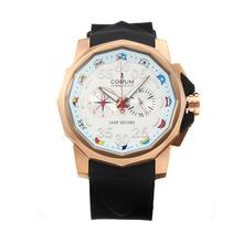Replik Corum Admirals Cup Chronograph Arbeitsgruppe Rose Gold Case mit White Dial-Rubber Strap - Attraktive Corum Admirals Cup Replik für Sie 37243