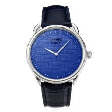 Replik Hermes Classic mit Blue Dial-Leather Strap - Attraktive Hermes Classic Watch for You 36644