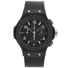 Repliki Hublot Big Bang Chronograph Swiss Valjoux 7750 Movement PVD Case Stick/Number Markers with Black Dial-Rubber Strap – Attractive Hublot Big Bang Watch for You 30136