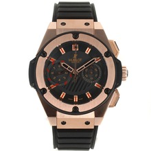 Repliki Hublot Big Bang Chronograph Swiss Valjoux 7750 Movement Rose Gold Case with Black Dial-Rubber Strap – Attractive Hublot Big Bang Watch for You 30080