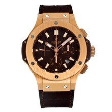 Replik Hublot Big Bang Chronograph Schweizer Valjoux 7750 Uhrwerk Rose Gold Case mit Brown Dial-Saphirglas - Attraktive Hublot Big Bang Uhr für Sie 29826
