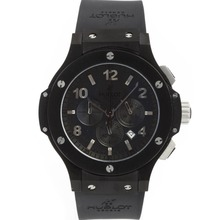 Repliki Hublot Big Bang All Black Limited Edition Working Chrono-Same Structure as 7750-High Quality – Attractive Hublot Big Bang Watch for You 30740