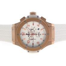 Replik Hublot Big Bang King Working Chronograph Rose Gold Case mit White Dial-48MM Version - Attraktive Hublot Big Bang King Uhr für Sie 30671