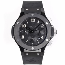 Replik Hublot Big Bang Black Ceramic All Black Limited Edition Mit Schweizer Valjoux 7750-Full Ceramic Case - Attraktive Hublot Big Bang Uhr für Sie 30653