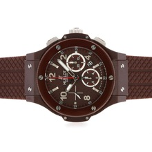 Replik Hublot Big Bang Chronograph Schweizer Valjoux 7750 Uhrwerk-Brown Full Ceramic Case - Attraktive Hublot Big Bang Uhr für Sie 30649