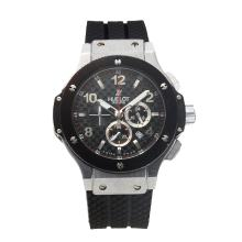 Replik Hublot Big Bang Arbeiten Chronograph mit Black Checkered Dial-Black Rubber Strap - Attraktive Hublot Big Bang Uhr für Sie 30314