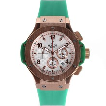 Replik Hublot Big Bang Chronograph Arbeitsgruppe Rose Gold Case mit White Carbon Fibre Style-Dial-Saphirglas - Attraktive Hublot Big Bang Uhr für Sie 30235