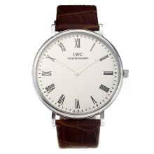 Repliki IWC with White Dial-Leather Strap – Attractive IWC Others Watch for You 31676