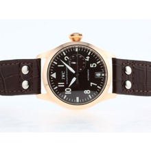 Repliki IWC Big Pilot Automatic Rose Gold Case with Brown Dial – Attractive IWC Pilot Watch for You 32548
