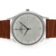Replik IWC Classic mit Silver Dial-Leather Strap - Attraktive IWC Others Uhr für Sie 32499