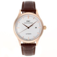 Replik IWC Classic Automatic Rose Gold Case mit White Dial-Leather Strap - Attraktive IWC Others Uhr für Sie 32407