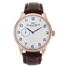 Replik IWC Portugieser Automatic Rose Gold Case Number Marker mit White Dial-Leather Strap - Attraktive IWC Portugieser Uhr für Sie 32122