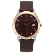 Replik Jaeger-LeCoultre Classic Automatic Two Tone Gehäuse mit Brown Dial-18K Plated Gold Bewegung - Attraktive Jaeger-LeCoultre Andere Achten Sie 33942