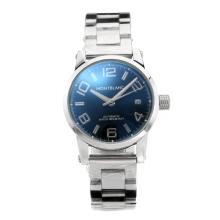 Replik Mont Blanc Classic Automatic mit blauem Zifferblatt S / S - Attraktive Montblanc Classic Watch for You 35436