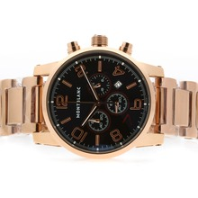 Replik Montblanc Time Walker Chronograph Arbeitsgruppe Volle Rose Gold-7. Limited Edition - Attraktive Montblanc Time Walker Uhr für Sie 35814
