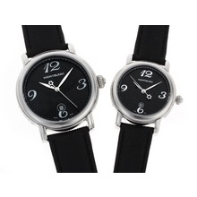 Replik Montblanc Star schwarzes Zifferblatt mit Lederband-Couple Watch - Attraktive Montblanc Star Watch for You 35741