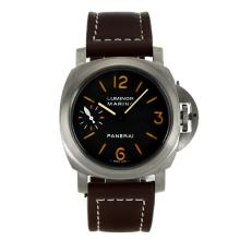 Replik Panerai Luminor Marina Unitas 6497 Movement Schwanenhals mit Orange Marker-Leather Strap - Attraktive Panerai Luminor Marina Uhr für Sie 31075