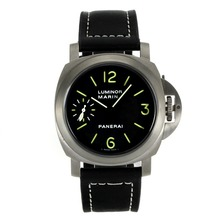 Replik Panerai Luminor Marina Unitas 6497 Movement Schwanenhals mit Green Marker-Leather Strap - Attraktive Panerai Luminor Marina für Sie 31073 Schauen