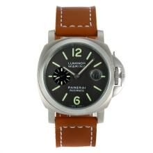 Replik Panerai Luminor Marina Automatic mit Gray Dial-Brown Leather Strap - Attraktive Panerai Luminor Marina für Sie 31061 Schauen