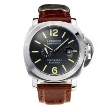 Replik Panerai Luminor Marina Automatic mit schwarzem Zifferblatt-Leather Strap - Attraktive Panerai Luminor Marina Uhr für Sie 31006